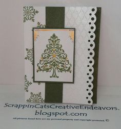 Welcome to Scrappin' Cat's Creative Endeavors: Scrap Christmas cards