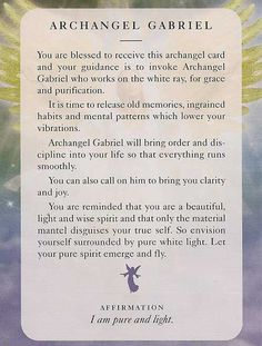Angel card: Archangel Gabriel