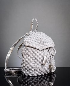 Glamour Chic...... Silver  Back Pack  #chic #unique #classy #in-fashion #winter2k17collection