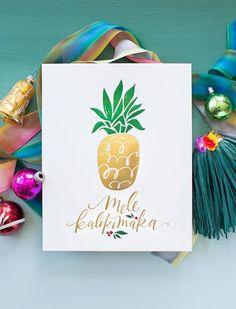 No. 96, Pineapple (Mele Kalikimaka) Print – Lindsay Letters