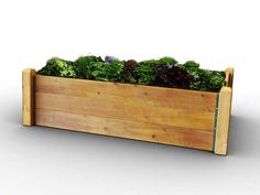 This raised garden bed kit is the easy way to grow your own fruit and vegetables. Made from thick timber boards & corner posts it will last many years of gardening Raised Bed Kits, Raised Garden Beds, Raised Beds, Timber Boards, Grow Your Own, How To Level Ground, Garden Planters, Raising, Allotment