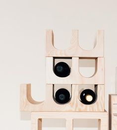 Stackable Wood Wine Rack | Bottle service should always be this easy. Nest your cab or pi... | Wine Racks