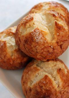 Salty chewy crunchy homemade pretzel bread. Make a loaf or rolls! So good!