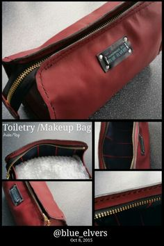 Mens toiletry bag or women's makeup bag- #beautiful soft leather... #madetoorder