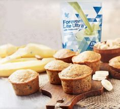Celebrate with this delicious, protein-packed Banana Bread Muffin Recipe Serves: 12 Muffins Serving Size: 1 Muffin Calories per Serving: 70 Calories Ingredients Instructions Preheat the oven to Banana Bread Cake, Banana Bread Muffins, Breakfast Muffins, Banana Protein Muffins, Clean9, Healthy Recepies, Healthy Drinks, Forever Aloe, Forever Living Products