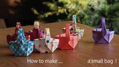 小さなBAGの折り方。折り紙のかばん。【origami tutorial】How to make an origami small bag!