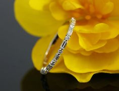 Halfway Diamond Wedding Band Baguette Diamond by KaratJewelryGroup
