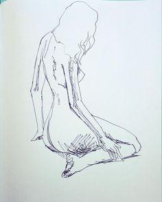 Nude woman posing #female #art #myart #eroticart...   Under Construction