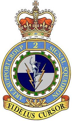 2 Area Support Group Signal Squadron - Wikipedia Canadian Army, Family Crest, Coat Of Arms, Ancestry, Badges, Captain America, Flags, Air Force, Patches