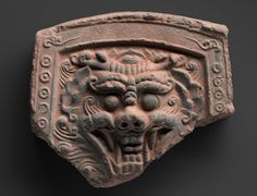 Korean Demons | Roof tile with a demon face, 8th–9th century A.D. Earthenware with ...