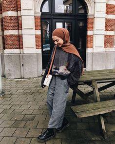 Modern Hijab Fashion, Street Hijab Fashion, Hijab Fashion Inspiration, Muslim Fashion, Modest Fashion, Casual Hijab Outfit, Ootd Hijab, Maila, Hijab Style