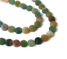 Fancy Jasper beads 8mm flat round HALF strand by RiverSongBeads #gemstone #beads