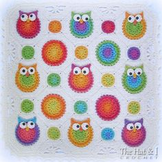 CROCHET PATTERN Owl Obsession a colorful owl by TheHatandI