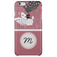 Elegant Black and White Butterfly Monogram Clear Clear iPhone 6 Plus Case Check out our chic Silver iPhone 6/6s Plus Cases collection to see  more luxury iPhone 6 Plus Case, iPhone 6s Plus Case products with the design from silver, silver glitter, silver Sparkling for her, for lady, for woman, for him, for men, for women, for family, for silver lovers. Select an device type option: Apple iPhone 7, Apple iPhone 7 Plus, iPhone 6/6s, iPhone 6/6s Plus, iPhone SE   iPhone 5/5S, iPhone 5C, iPhone…