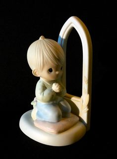 "Precious Moments ""Worship The Lord"" - Boy Kneeling In Prayer by WuziesAttic on Etsy"