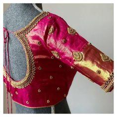 Cutwork Blouse Designs, Blouse Back Neck Designs, Hand Work Blouse Design, Simple Blouse Designs, Stylish Blouse Design, Bridal Blouse Designs, New Saree Blouse Designs, Blouse Neck, Aari Work Blouse