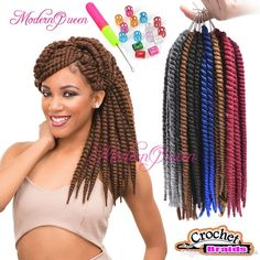 100% Kanekalon Havana Mambo Twist Synthetic Braiding Hair 12inch 65g Crochet Afro Twist Braids Hair Extesnions More Colors 12strands Pack Milky Way Weave Milky Way Hair Wholesale From Modernqueen888, $6.67| Dhgate.Com Afro Twist Braid, Twist Braid Hairstyles, Havana Twist Styles, Remy Hair, Synthetic Hair, Weave, Hair Styles, Crochet, Colors