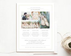 Price List Templates Magazine Template For Wedding Photographers  Photography Welcome .