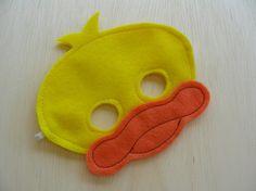 Máscara de pato Childs por Mahalo en Etsy