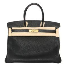 Hermes 35cm Birkin Black Taurillon Clemence Brand New