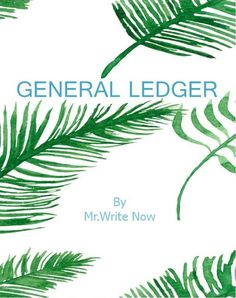 """General Ledger Journal 120 sheets 6"""" x 9"""" Green Design by Mr.Write Now Gift Idea #MrWriteNow"""