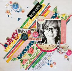 #papercraft #Scrapbook #layout.  a.sprinkle.of.this