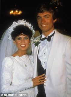 Marie Osmond and Stephen Craig at their first wedding.