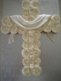 Cross cupcakes for baby dedication or child's baptism