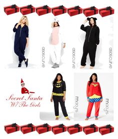 """Secret Santa With The Girls"" by dashanawill on Polyvore featuring ASOS Curve, Briefly Stated, Elf on the Shelf and plus size clothing"