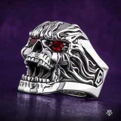 heavy metal core rock conciertos lyrics playlist nu industrial walpappers power metallica iron maiden metalcore Silver Skull Ring, Gold Ring, Silver Earrings, Mens Skull Rings, Skull Jewelry, Gothic Jewelry, Gold Jewelry, Sterling Silver Jewelry, Jewelry Rings