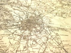 Map of Dkublin Dublin Map, Dublin Ireland, Old Pictures, Knight, Irish, Vintage World Maps, Antiques, Ebay, Art