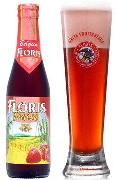 Cerveja Floris Fraise, estilo Fruit Beer, produzida por Huyghe, Bélgica. 3.6% ABV de álcool.