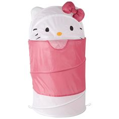 Hello Kitty Dome Top Hamper with 3D ears and bow (White)