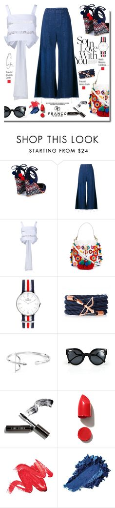 """""""Francoflorenzi.com: So in Love with You!"""" by hamaly ❤ liked on Polyvore featuring Aquazzura, Chloé, Rochas, Dolce&Gabbana, Fendi, Bobbi Brown Cosmetics, NARS Cosmetics, ootd, bracelets and watches"""