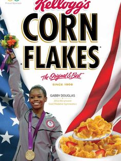 Olympics 2012: Gabby Douglas' Gold Medal Spurs Corn Flakes Box, Twitter Tributes (Photo)