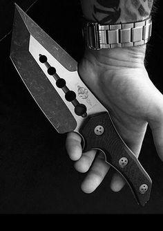 Marfione Custom Apex Tanto Two-Tone Apocalyptic Fixed Knife Blade