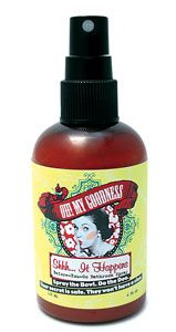 """another great product! Oh! My Goodness - Shhh... It Happens Before-You-Go Bathroom Spray.  Spray the Bowl. Do the Doo. Your secret is safe. They won't have a clue. Oh! My Goodness Presents Shhh... It Happens 2oz Bottle - This blend of natural essential oils and fresh grapefruit creates a protective film on the surface of the water effectively eliminating any odor before it even begins. This size makes a great """"show item"""" for your bathroom."""