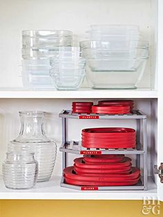 DIY Home Sweet Home: 7 Amazing Tips For Organizing Your Tupperware And Food Storage Containers Large Food Storage Containers, Container Organization, Storage Bins, Storage Solutions, Small Storage, Storage Ideas, Pan Organization, Storage Canisters, Pantry Storage