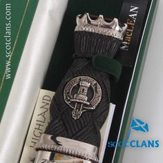 MacLean Clan Crest Deluxe Sgian Dubh. Free worldwide shipping available