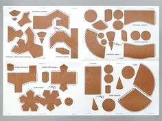 Geometric Shapes Sheet by Presnt & Correct: A book of various shapes to cut and assemble. We used to draw these on recycled shirt cardboard from the cleaners and laboriously cut and score them with a razor. This is so much easier. Printed in 1975, the book opens up to a large sheet of shapes. #Solid_Geometry #Geometric_Shapes #Present_&_Correct
