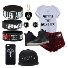 """style"" by fall-away ❤ liked on Polyvore featuring Converse"