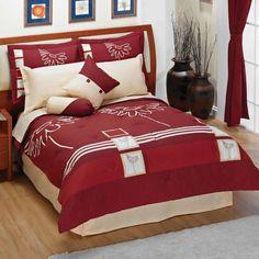Rosso Bruno Comforter Set (Queen Size)