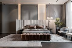 Modern Luxury Bedroom, Modern Bedroom Design, Luxurious Bedrooms, Luxury Interior, Interior Design, Contemporary Interior, Hotel Bedroom Design, Bedroom Furniture Design, Cosy Room