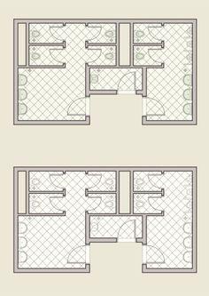 public toilet architectural plan, colored and grayscale Wc Design, Toilet Design, Plan Design, Deco Restaurant, Restaurant Interior Design, Arquitectura Logo, Toilet Plan, Architect Logo, Restroom Design