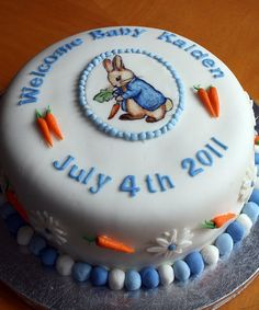 Peter Rabbit Baby Shower Cake for Kaiden by The Cake Boutique, via Flickr