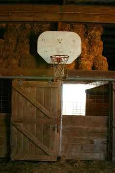 Basketball + farms= Indiana!- Reminds me of the ball games played in my cousin barn!