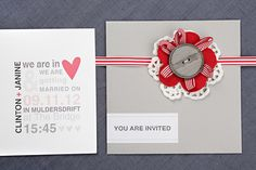 Chrystalace Wedding Stationery Coral and grey invitation with grey envelope and inserts. You Are Invited, Wedding Stationery, Envelope, Typography, Coral, Invitations, Couture, Inspiration, Chic