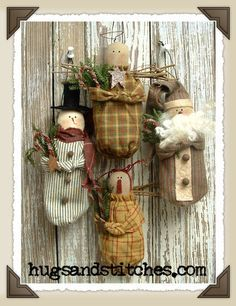 country christmas ornaments | ... Primitive Rustic Country Red ...