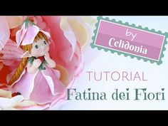 Polymer Clay Flower Fairy video tutorial by Celidoniastudio Clay Classes, Polymer Project, Clay Videos, Cake Topper Tutorial, Fairy Crafts, Polymer Clay Flowers, Clay Figures, Doll Tutorial, Pasta Flexible