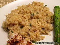 Easy Dairy Free: Garlic Quinoa